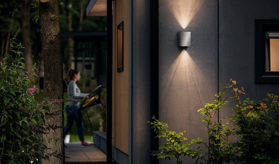 Cistus stainless steel LED outdoor wall light