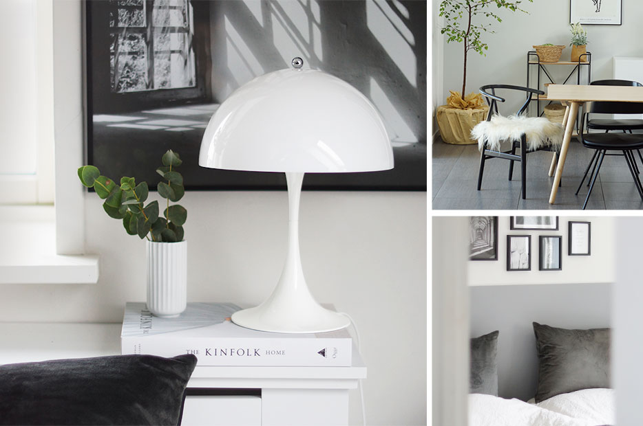 Designer table lamp 'Panthella' by Louis Poulsen