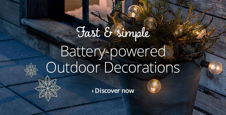 Battery-powered Outdoor Decorations