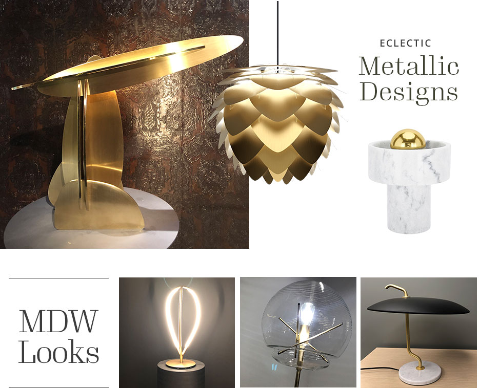Lighting made from marble, brass & co.
