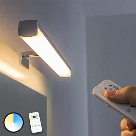 LED mirror light Atlas, adjustable luminous colour