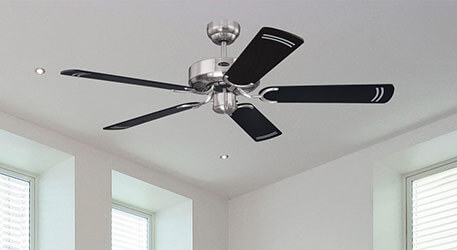 Cyclone ceiling fan in elegant black