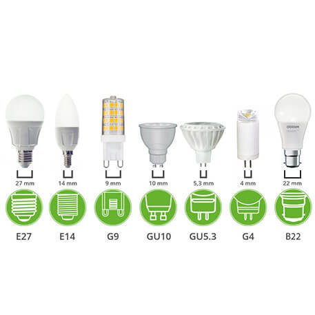 led bulb base types