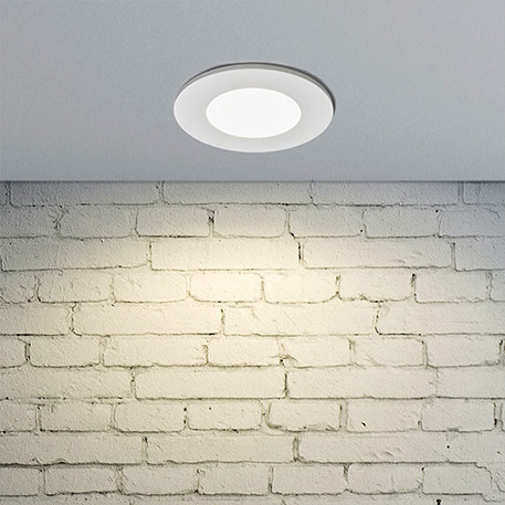 Kamilla LED recessed light in white, IP65