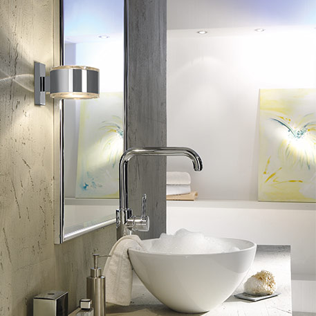 Which IP codes are necessary for lights in the bathroom?