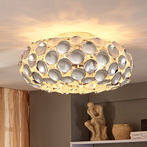 Glossy chrome ceiling lamp Reza