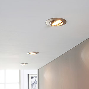 Set of 3 LED recessed lights Andrej, matt nickel