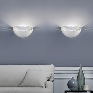 Greka lovely LED wall light in white