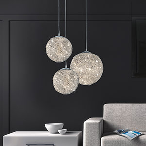 Appealing LED pendant light Thunder, Ø 30 cm