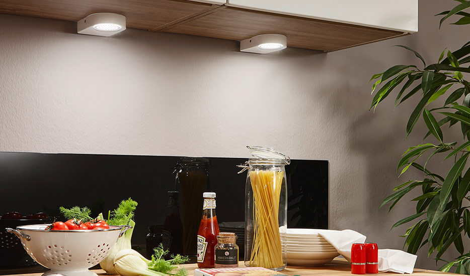 Cabinet lights - illuminate areas below your cupboards