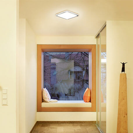 Ceiling lights with motion sensors