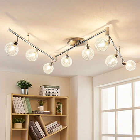multiple bulb ceiling spotlight with g9 bulbs