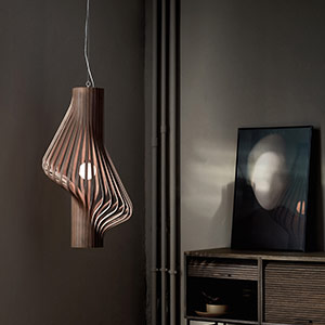designer wooden pendant light