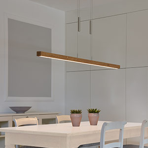 modern wooden pendant light