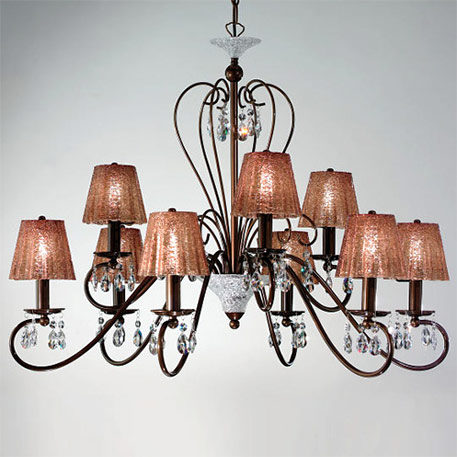crystal chandelier with shades