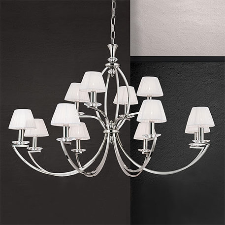 chandelier with lampshade