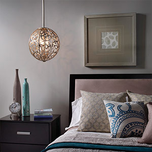 Arabesque Hanging Light with Artistic Pattern