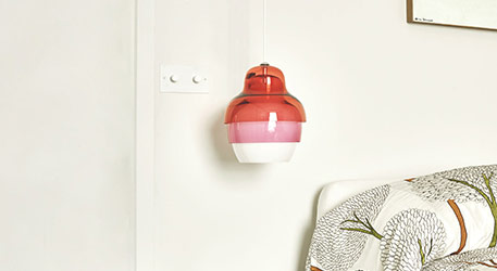 Innermost Matrioshka Pendant Light in Pink-White