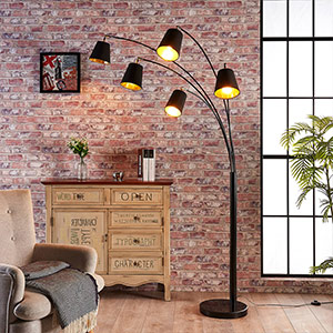 fabric floor lamp multiple arms