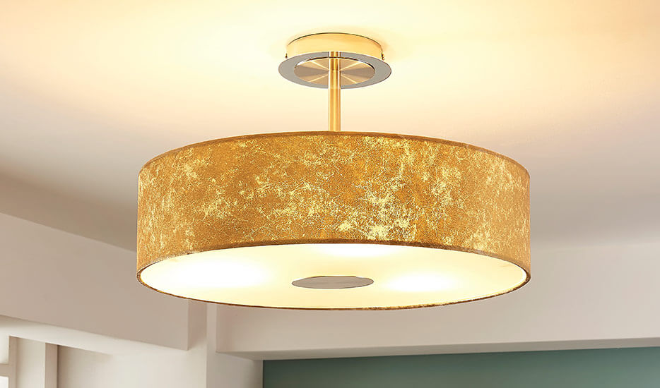 Fabric ceiling lights