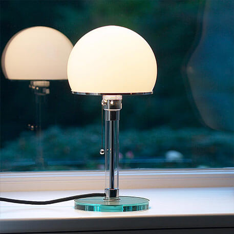 Glass-crafted Wagenfeld table lamp