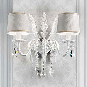 classic antique crystal wall lamp